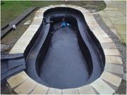 Гидроизоляция бассейнов,  водоемов жидкой резиной